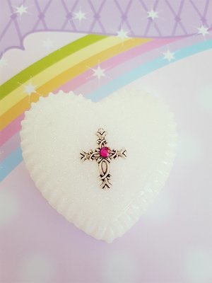 Heart Christening Box with Crystal
