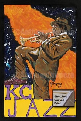 Play it Bro: KC Jazz - Custom Original 3' x 2' Giclée Canvas Print