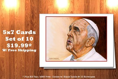 Pope Francis by AO - Greeting Cards (10)