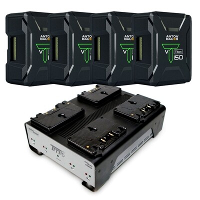 Anton Bauer Titon SL 150GM - 4pack w/ TM4 Charger