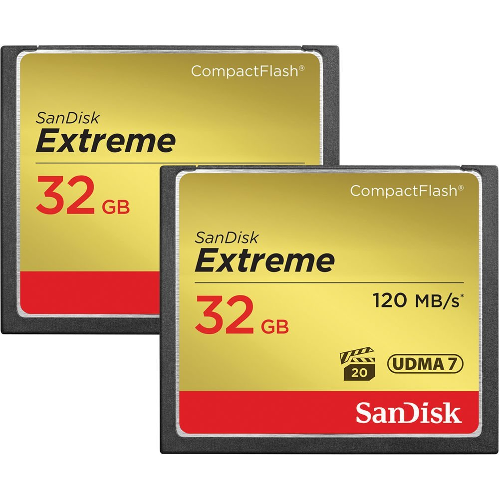4 - 32 GB Compact Flash Memory Cards