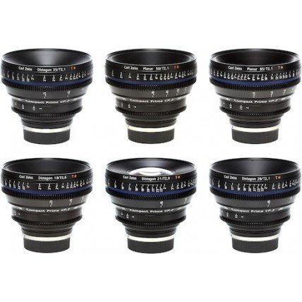 Zeiss 6 Lens Kit EF Mount