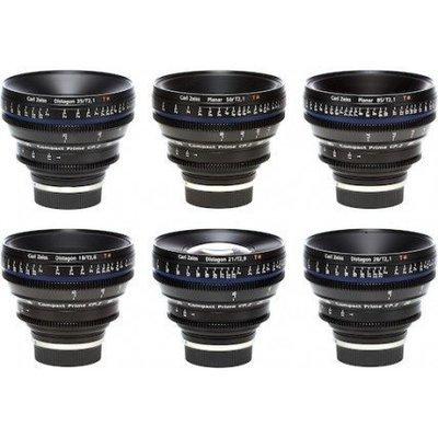 Zeiss 6 Lens Kit PL Mount