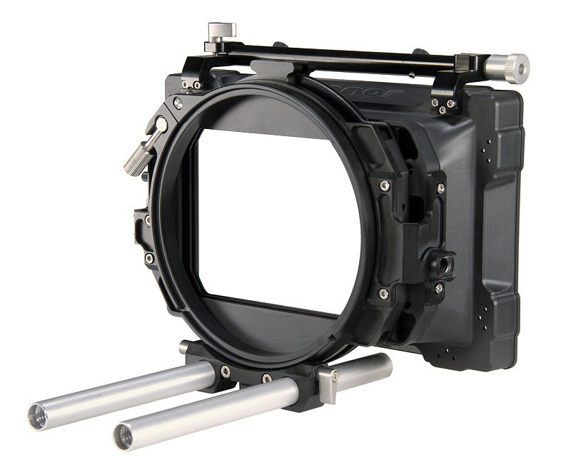 """O'Connor O-Box 4"""" x 5.65"""" 2-Stage Mattebox 15mm LWS w/pair 9.5 x 15mm Rods"""
