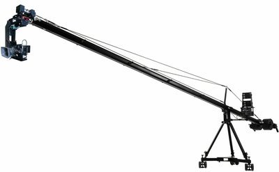 Jimmy Jib - up to 30' reach with 2-axis hot head, includes operator