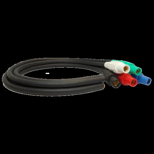 10' 4/0 Lug to Camlock Jumper (5-Wire Set)