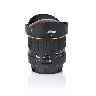 Oshiro 8mm Fisheye CS Lens F3.5 - Nikon F-Mount