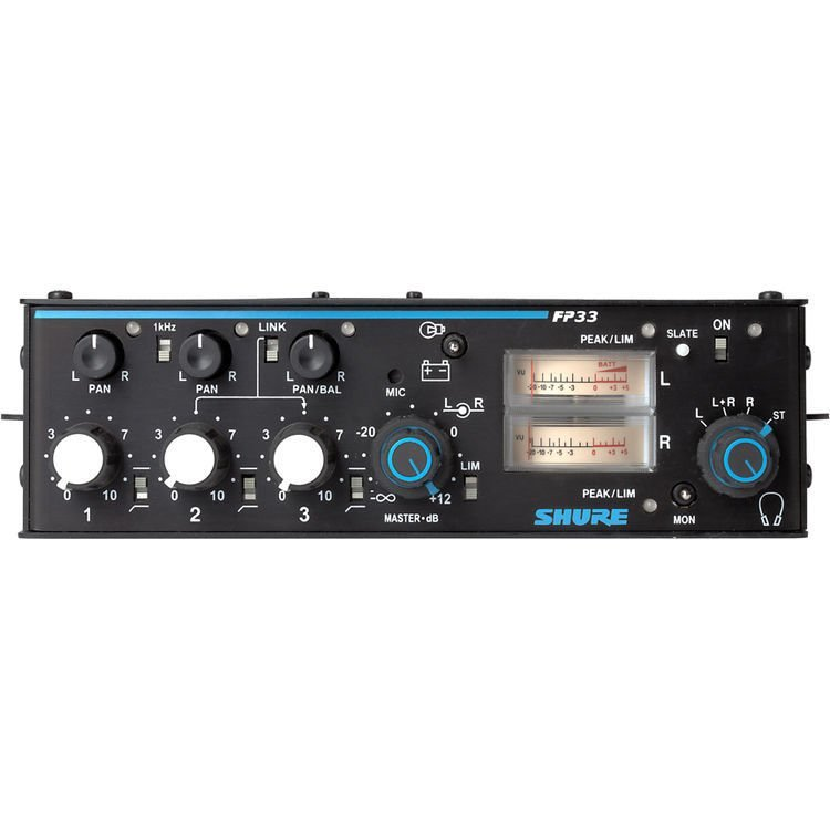 Shure FP33 3 Channel Mixer