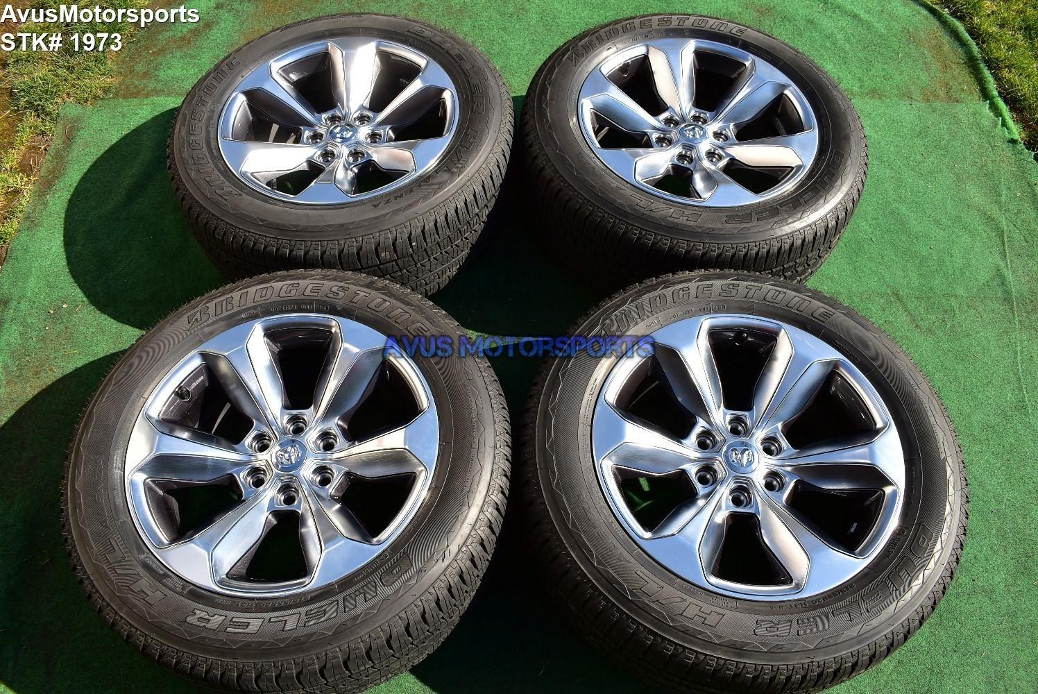 "20"" Dodge Ram Limited OEM Factory Polished Wheels 1500 Genuine 2019 tires"