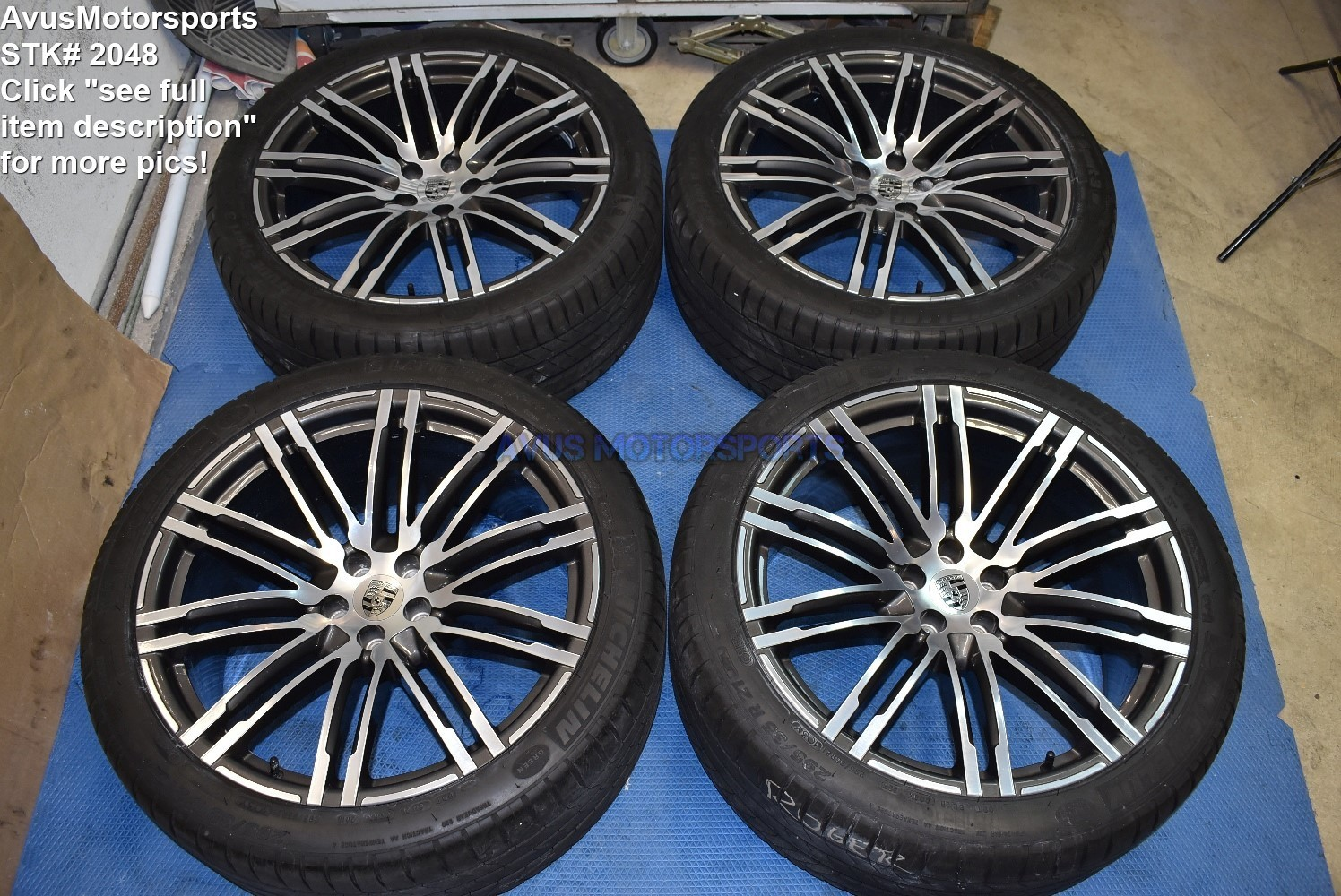 "21"" Porsche Macan OEM 95B Factory Genuine Wheels Michelin tires GTS Turbo S"