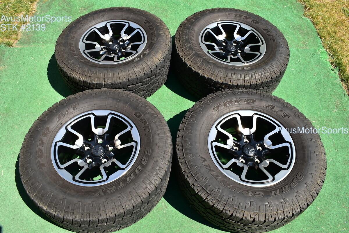 "17"" Dodge Ram Rebel OEM Factory Wheels 1500 Toyo LT285/70R17 A/T 2015 2016"
