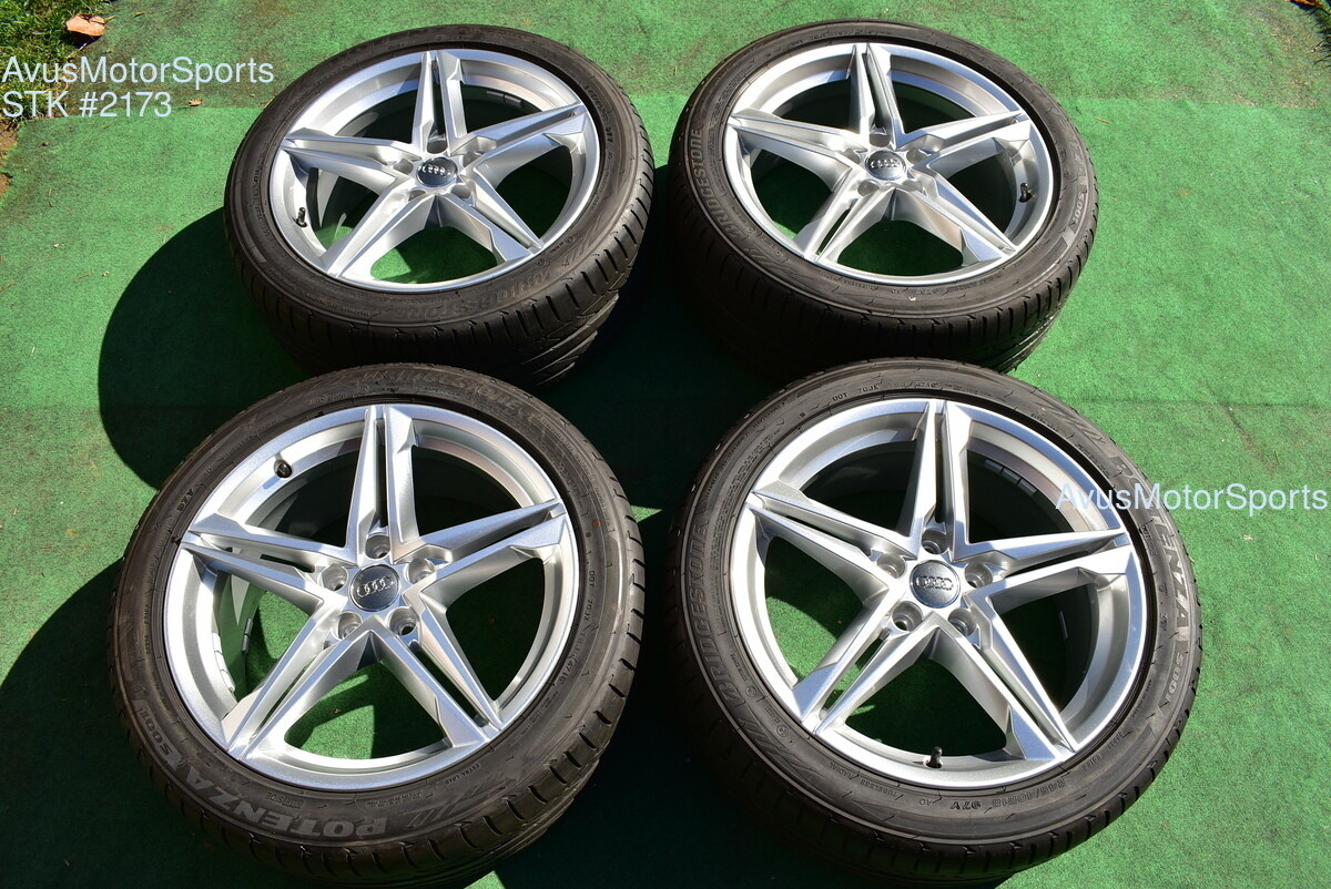 "18"" Audi A4 Factory OEM Wheels B9 & 245/40R19 Tires 8W0601025EC"
