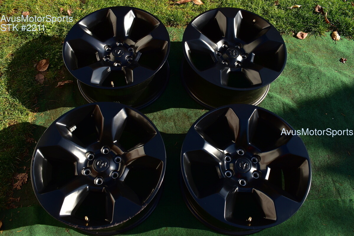 "20"" Dodge Ram Laramie OEM Factory Black Wheels 1500 Genuine 2019"