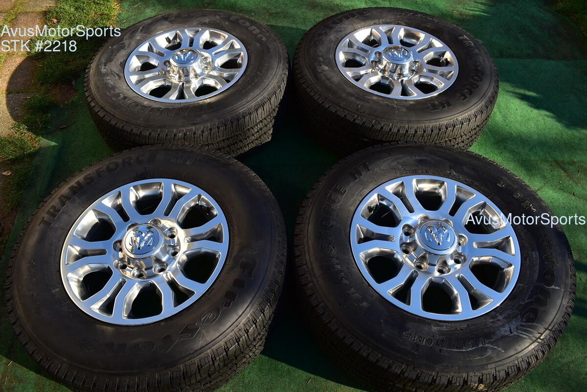 "18"" Dodge Ram Laramie OEM Factory Wheels Tires  2500 3500 2019 2018 2017"