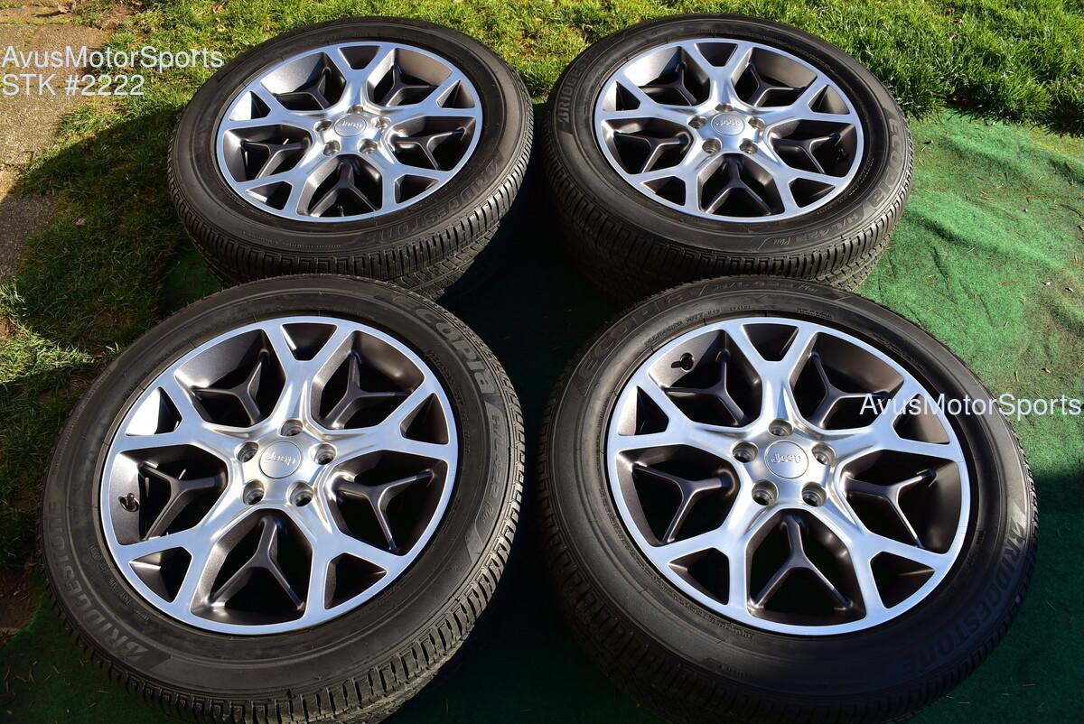 """20"""" Jeep Grand Cherokee Sterling Ed OEM Factory Genuine Wheels Tire 6EZ05TRMAA"""