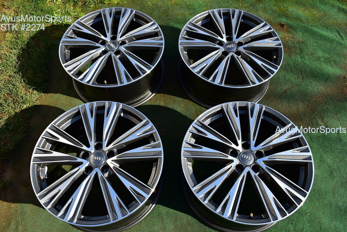 "20"" Audi A6 S6 Quattro Factory OEM Wheels 2019 part# 4K0601025J"