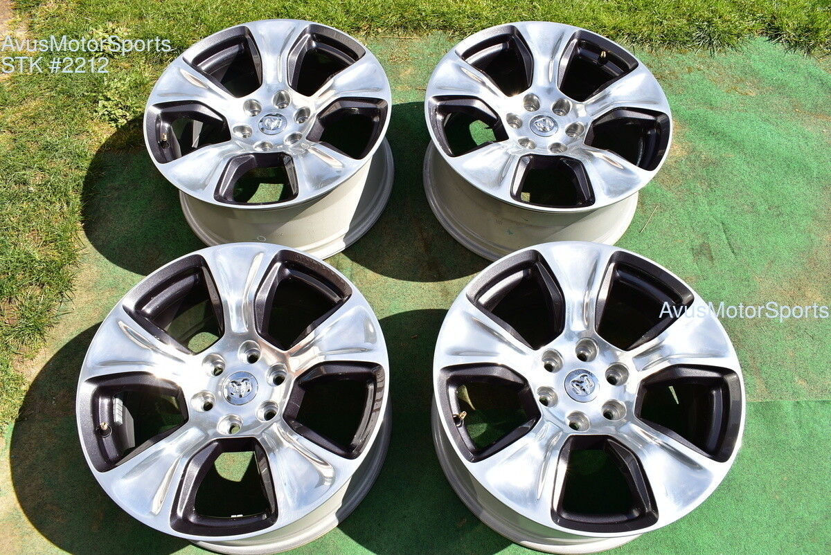 "20"" Dodge Ram Laramie OEM Factory Polished Wheels 1500 Genuine 2019"