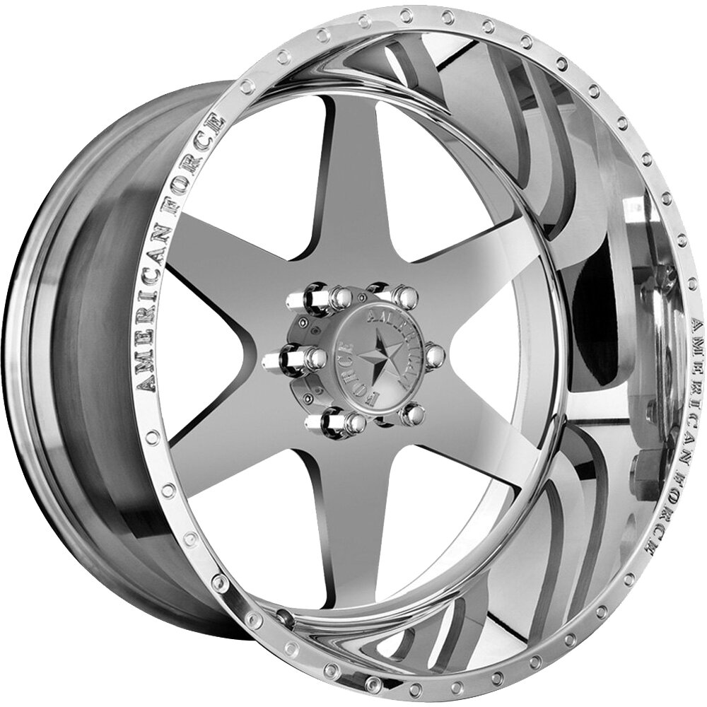 """20x10 American Force Independence SS Forged Wheels 20"""" Chevy ram 6x5.5 6x139 -25"""