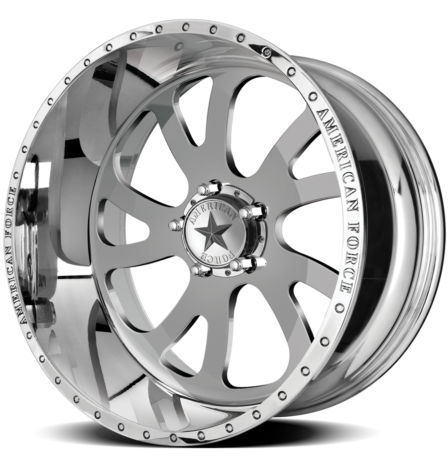 """22x12 American Force Octane SS Forged Wheels 22"""" Chevy ram 6x135 -40"""