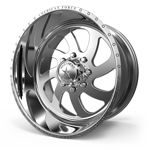 "24x14 American Force 76 Blade Forged Polished 24"" Wheels 8x6.5 8x165 -73"