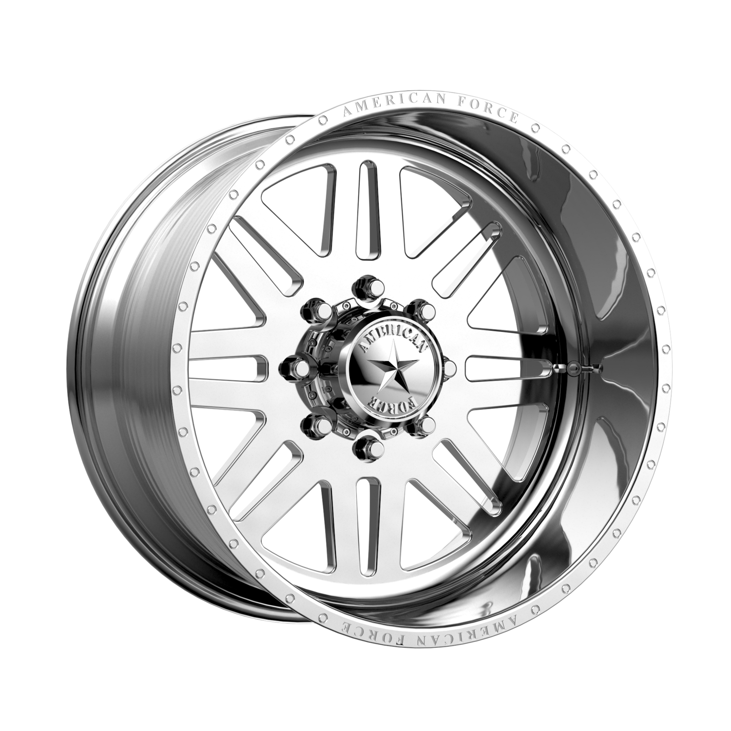 """20x10 American Force Liberty SS Forged Polished 20"""" Wheels 8x6.5 8x165 -25"""