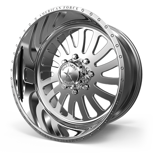 "24x14 American Force Octane Forged Polished 24"" Wheels 8x6.5 8x165 -73"