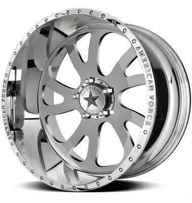 20x10 Set of (5) American Force Octane Forged Wheels 20