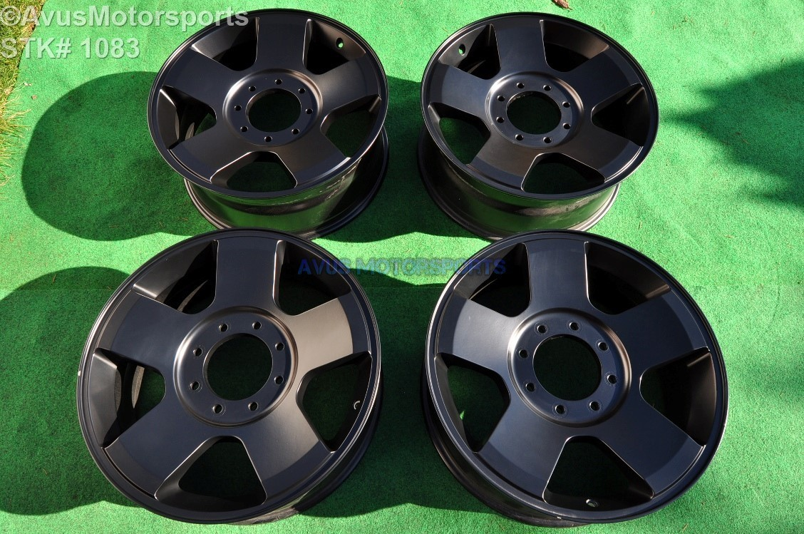 """Ford F250 Super Duty 20"""" OEM Factory Wheels F350 FX4 Lariat satin matte Black 6C3J-1007-AA"""