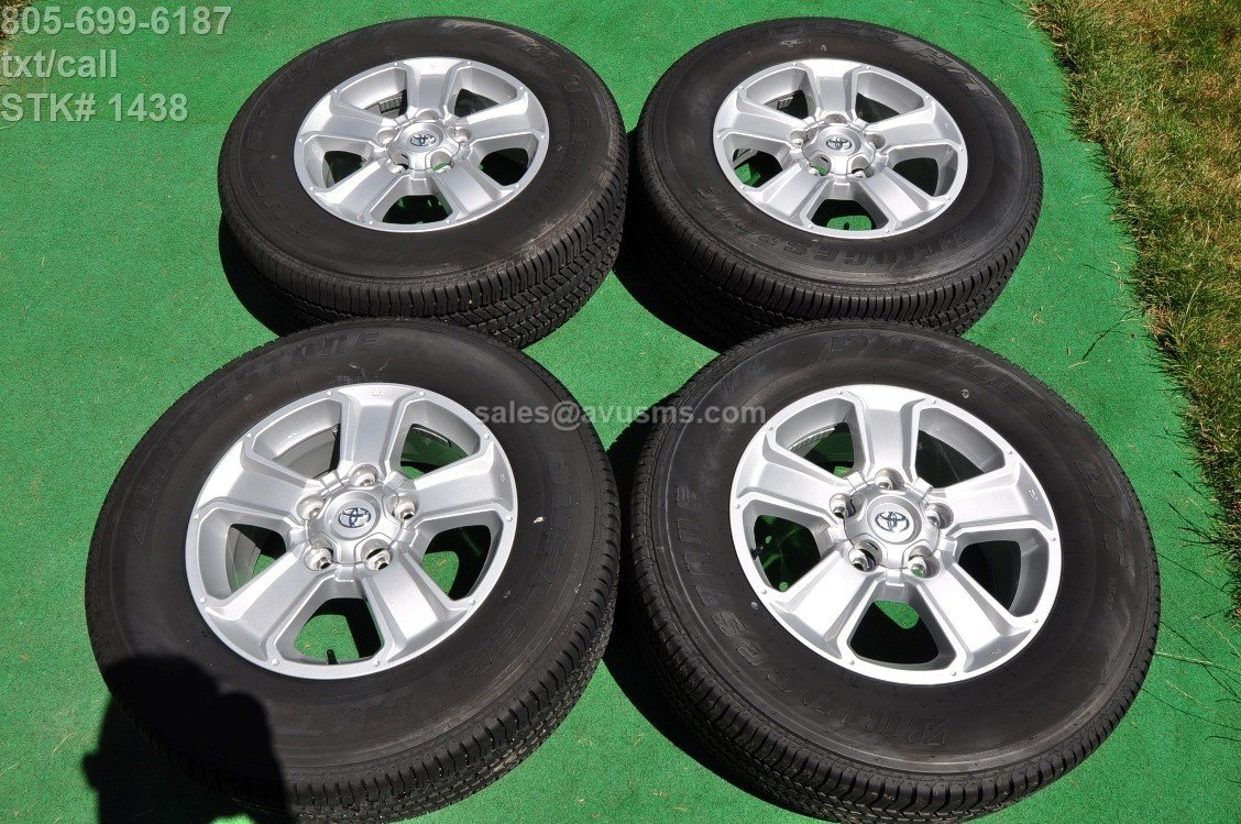 "18"" TOYOTA TUNDRA OEM Factory WHEELS Tires SEQUOIA Land Cruiser Lx 470 2017"