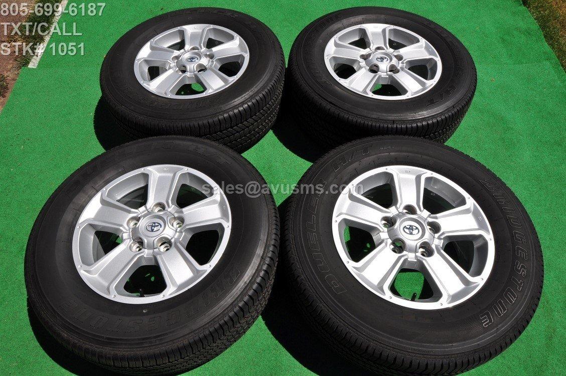 "2016 TOYOTA TUNDRA OEM 18"" Factory WHEELS Tires SEQUOIA Land Cruiser Lx 470"