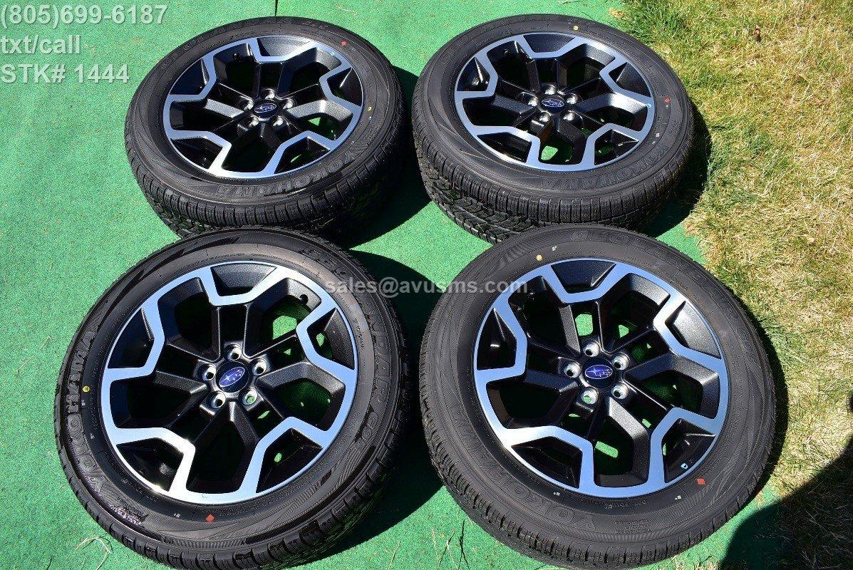 """2017 Subaru XV Crosstrek OEM 17"""" Factory Wheels Yokohama P225/55R17 Tires + TPMS"""