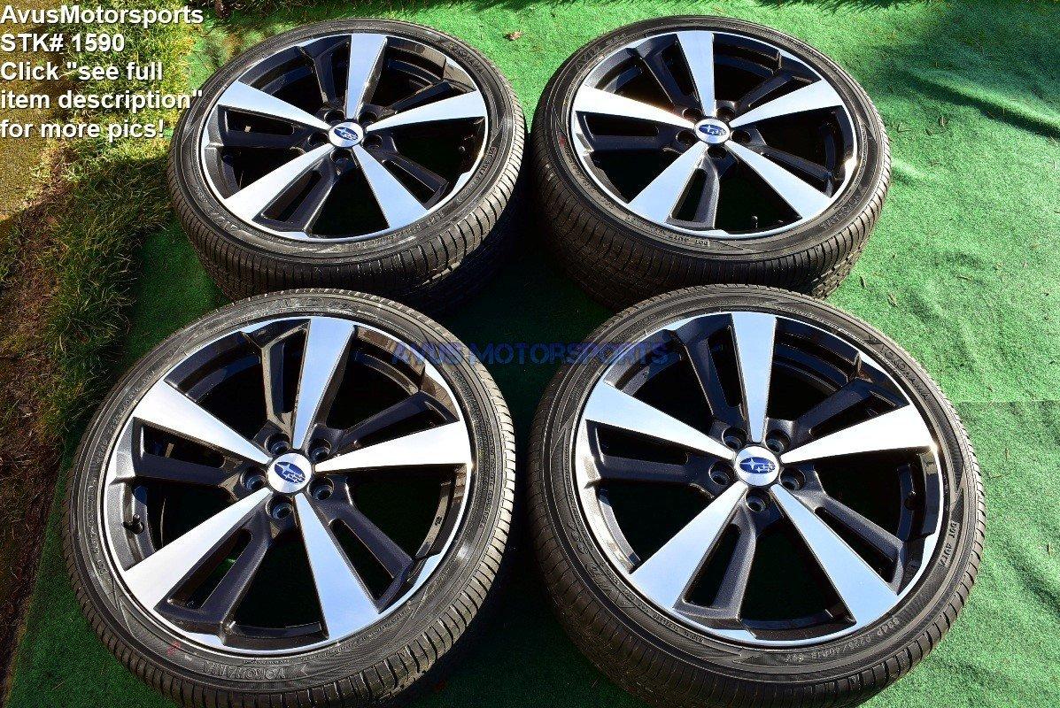 "18"" Subaru Impreza Sport 18"" OEM Factory Wheels & Tires p225/40r18 2017 + TPMS"