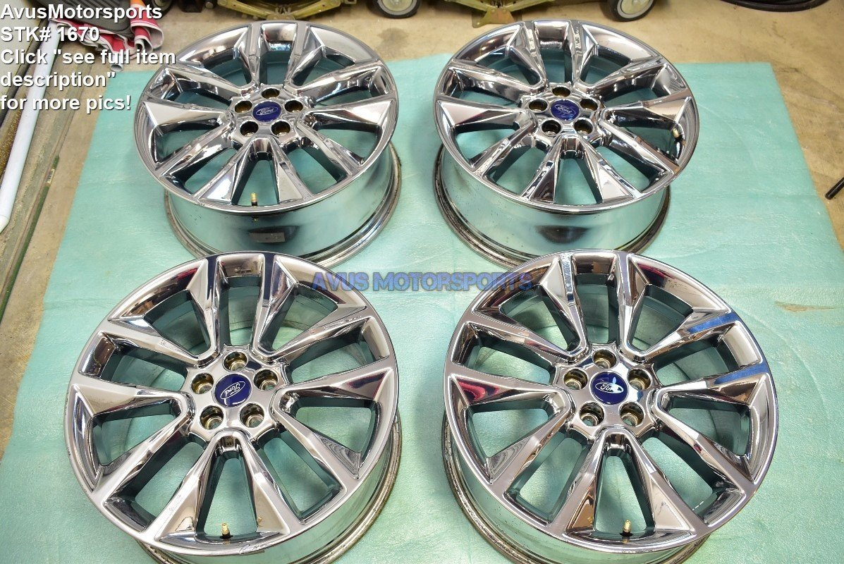 """19"""" Ford Escape OEM Factory Polished Wheels 2015 2016 2013 2014 Edge"""
