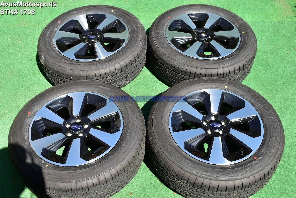 """2018 Subaru Forester OEM 17"""" Factory Wheels P225/60R17 Tires Outback + TPMS"""