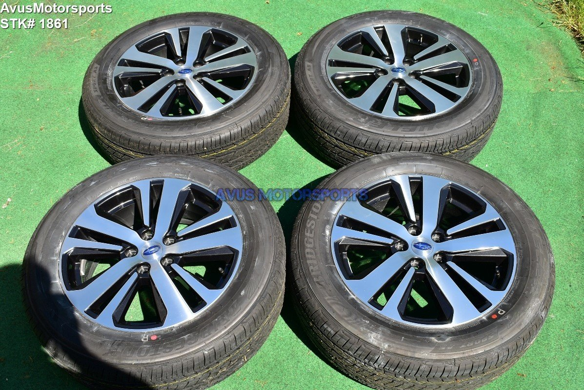 """2018 Subaru Outback Limited 18"""" OEM Factory Wheels 225/60R18 Tires 2017 + TPMS"""