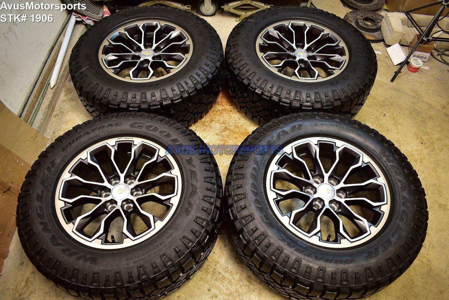"17"" CHEVROLET COLORADO ZR2 OEM FACTORY WHEELS GMC CANYON Goodyear Duratrac Tires"
