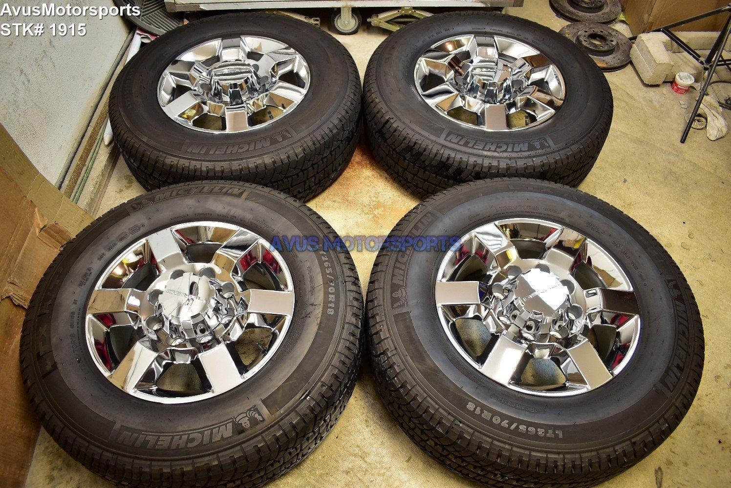 "18"" GMC Sierra Denali 2500 3500 OEM WHEELS TIRES Chevy Silverado chrome 2018"