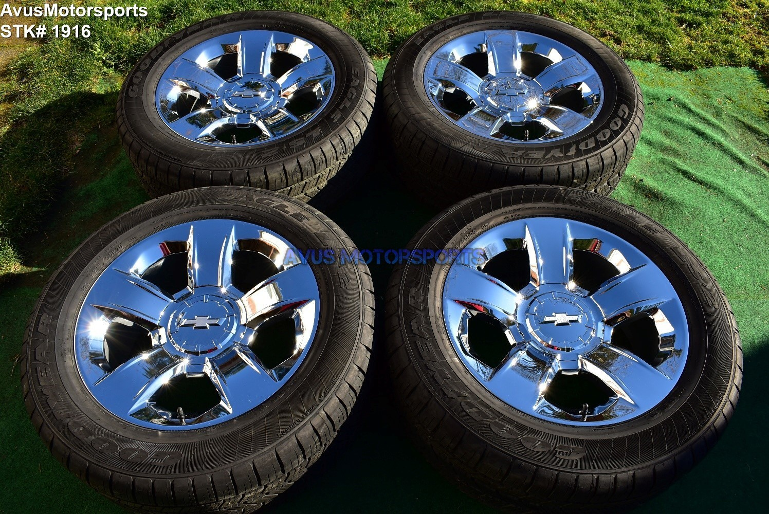 "20"" Chevrolet SILVERADO 1500 OEM FACTORY Chrome WHEELS Tahoe GMC Sierra YUKON"