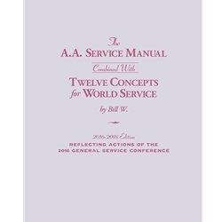 A.A. Service Manual/Twelve Concepts for World Service (large print) 2016-2018