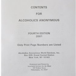 Alcoholics Anonymous (Braille)