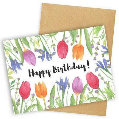 Листівка з конвертом Happy birthday