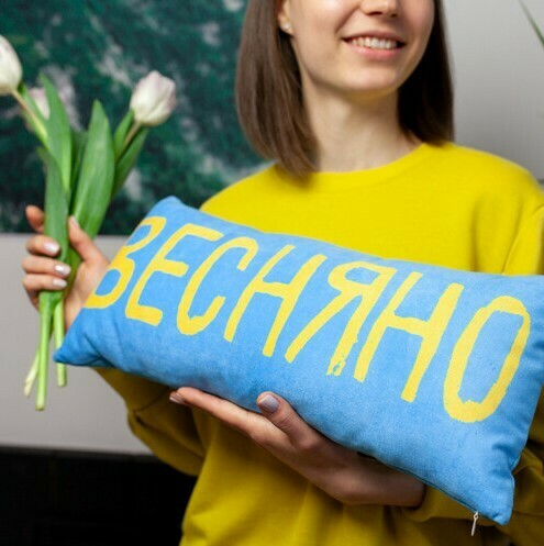 Подушка 50х24 (оксамит) Весняно