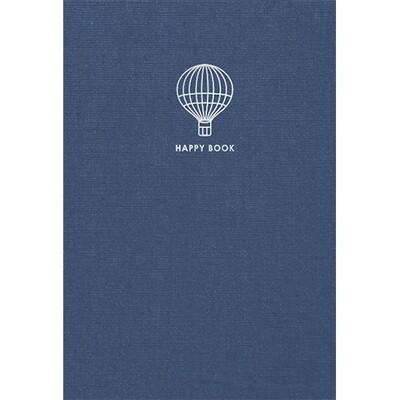 Зошит «Happy book», без ліній. A5 (синій)