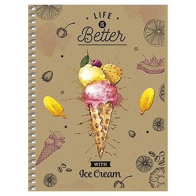 Зошит «Крафт», клітинка. В6 (ice cream).