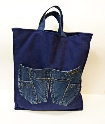 Сумка джинсовая для покупок