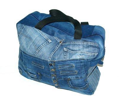 Сумка джинсовая дорожная