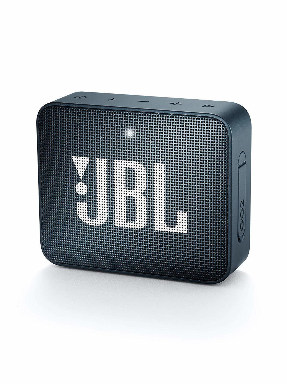 JBL GO 2 Portable Bluetooth Waterproof Speaker, Navy