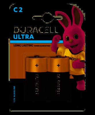 Duracell Ultra C, 2 Batteries, 1.5V Alkaline