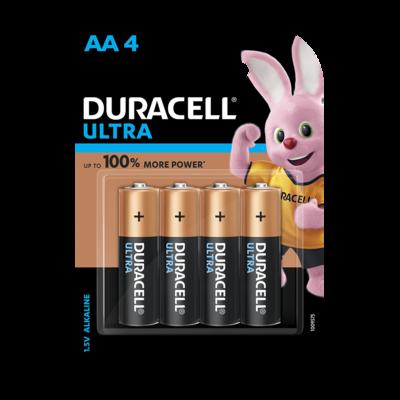 Duracell Ultra Alkaline AA, 4 Battery