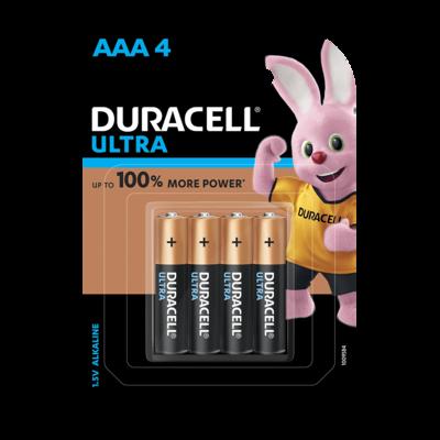 Duracell Ultra AAA, 4 Batteries, 1.5V Alkaline